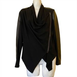 Blank NYC Faux Suede and Drape Jacket